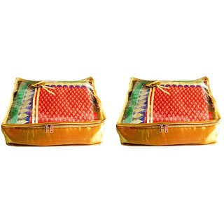Atorakushon Pack Of 2 Saree Salwar Suit Cover Dress Protection Cover Garment Storage Box Bag