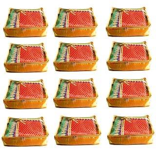 Atorakushon Pack Of 12 Saree Salwar Suit Cover Dress Protection Cover Garment Storage Box Bg