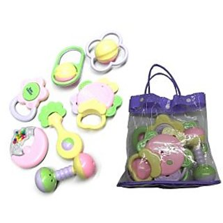 Baby Rattle Pouch of 7 pcs.