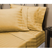 Super Soft Stripe Gold Standard 2PC Pillow Covers Egyptian Cotton