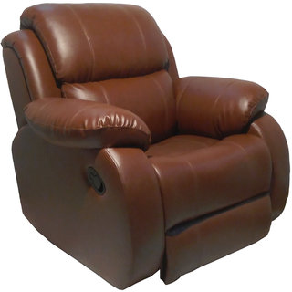 Rocking Rotating Recliner ChairBROWN