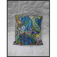 Kantha Handmade Pillow Throw Cushion Cover Kantha Decorative Pillow Cushion - 3632804