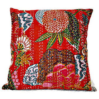Kantha Handmade Pillow Throw Cushion Cover Kantha Decorative Pillow Cushion
