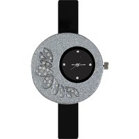 Glory Big Fancy Designer look Collection Black PU Analog Watch - For Women by  miss