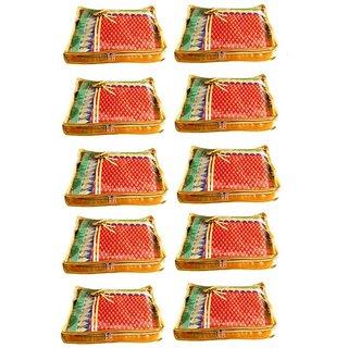 Atorakushon Pack 10 Saree Salwar Suit Cover Dress Protection Cover Garment Storage Box Bag