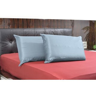Super Soft Solid Blue Standard 2PC Pillow Covers Egyptian Cotton