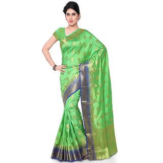 Varkala Silk Sarees Woven Art Silk Paisley Theme Dual Color SareePastel Green and BlueND1007FGNB