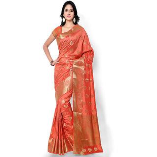 Varkala Silk Sarees Woven Art Silk Paisley Theme SareePeachND1007TM
