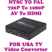 Gadget Hero's Video Converter 720P/1080P AV + HDMI TO HDMI Conversion Built In NTSC TO PAL