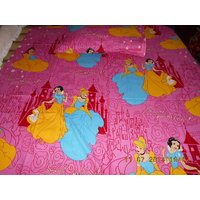 Superb Quality BARBIE Print Single Bed Sheet With One Pillow Cover