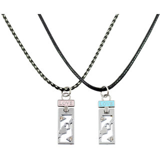 Alpha Man Always On The Right Direction Couple Pendants