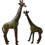 Brass Giraffe Pair Showpiece - Set Of Two
