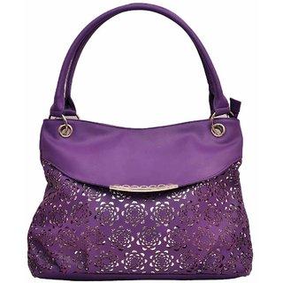 Hawai Purple Shoulder Bag for Women - PU Leather(LBW00015)
