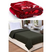 BSB Trendz  Blanket Combo (1 Mink +1 Fleece Blanket)
