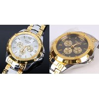 TWO Rosara Combo Watches Golden Silver For Man By MISS