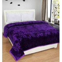 BSB Trendz Plain Double bed mink Blanket