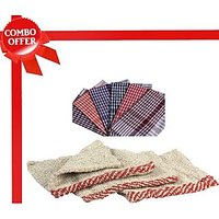 Combo Pack Of 6 Kitchen Napkins & 6 Multi Utility Dusters