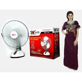 MERI 15 Inch Rechargeable Fan With LED Lights + Free KTG TRENDZ Cotton Nighty