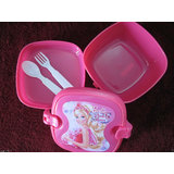 Barbie Lunch Tiffin Box for Kids School with Fork & Spoon or Birthday Gift