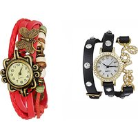 FAP Love  Butterfly Design Pack of 2 Womens Watches designer watches  ladies watches girls watches BY MISS