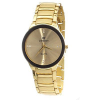 Iik Collection Golden Steel Analog Watch For Mens By  MISS