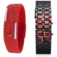 Deal2DIL Combo Digital LED Watch - ss for 500 Men  Boys BY MISS