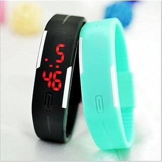 New-Fashion-Touch-Screen-LED-Bracelet-Digital-Watches-For-Men-Ladies-Child black BY MISS