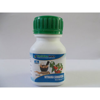 Withania Somnifera Extract 60 Capsules 500Mg