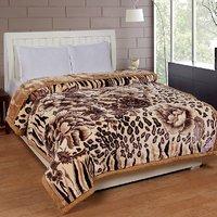 BSB Trendz Printed Double Bed Mink Blanket