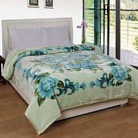 BSB Trendz Printed Double Bed Mink Blanket