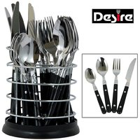 Desire 24 Pcs Stainless Steel Cutlery Set With Steel Stand