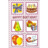 "Exclusive Designer Greeting Card Birthday 8.5""x5.5"" #2251"