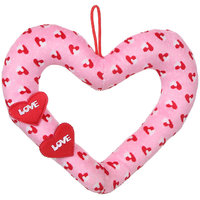 Deals India Pink Love Ring Heart Stuffed soft plush toy Love Girl - 30 cm
