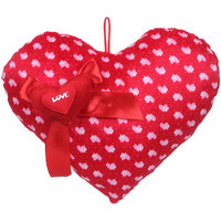 Deals India Valentine Red Love  Ribbon Heart Stuffed soft plush toy Love - 35cm