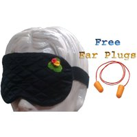 Silkyworld Black Sleep Eye Mask With FREE Shipping And Ear Plugs