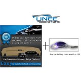 UneeStore - Car Dashboard Cover For Ford Fiesta-Beige With Free Car Led Key Chain