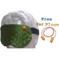 Silkyworld Green Sleep Eye Mask With FREE Shipping And Ear Plugs