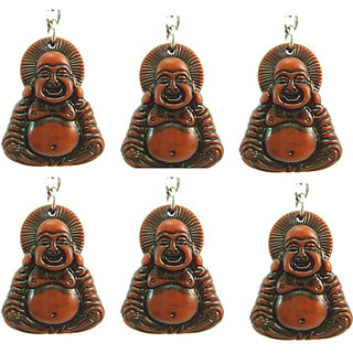 Set of 6 Pcs Laughing Buddha Keychain