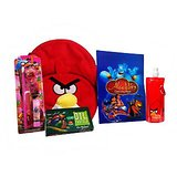 Kids School Kit (Stationery Set+12 Shades Oil Pastels+Cartoon School Bag+Bottle)