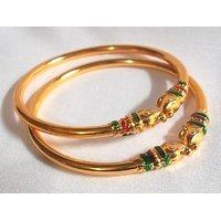Elephant golden bangles