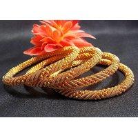 Golden jaali bangles set of 4 pc