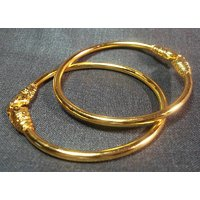 Golden elephant bangles