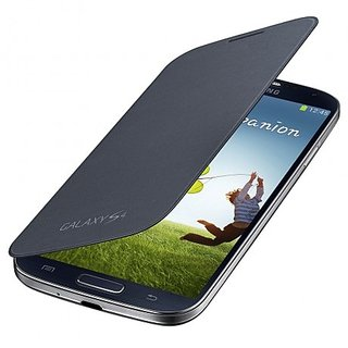 Callmate Flip Case Battery Cover Replaceable For I9500 S4 With Free Screen Guard Black available at ShopClues for Rs.325