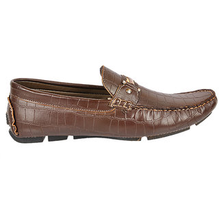 Kj Collection Dark Brown Leather Loafer