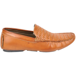 Kj Collection Brown Leather Loafer