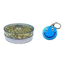 SPROUT MAKER WITH 1 COMPARTMENTS WITH FREE SMILEY KEY CHAIN.