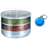 SPROUT MAKER WITH 2 COMPARTMENTS WITH FREE SMILEY KEY CHAIN.