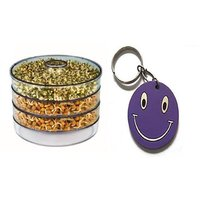 SPROUT MAKER WITH 3 COMPARTMENTS WITH FREE SMILEY KEY CHAIN.
