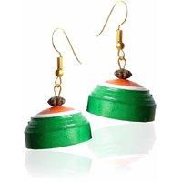 Indian Tricolor Bengal Handicraft Handmade Earrings Set