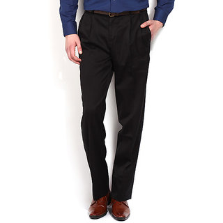 Black Poly Blend Unstitched Trouser 1.20 Meter Cut